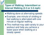 types of walking intermittent or interval walking 2 3 or 3 5 mph