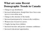 what are some recent demographic trends in canada
