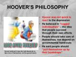 hoover s philosophy