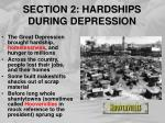 section 2 hardships during depression