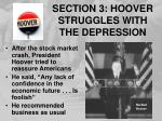 section 3 hoover struggles with the depression