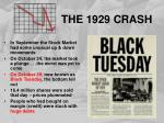the 1929 crash