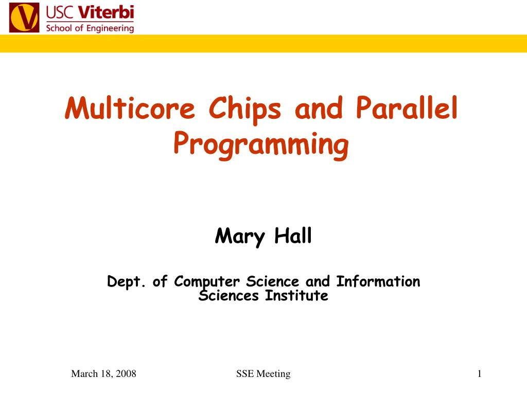 multicore chips and parallel programming l.
