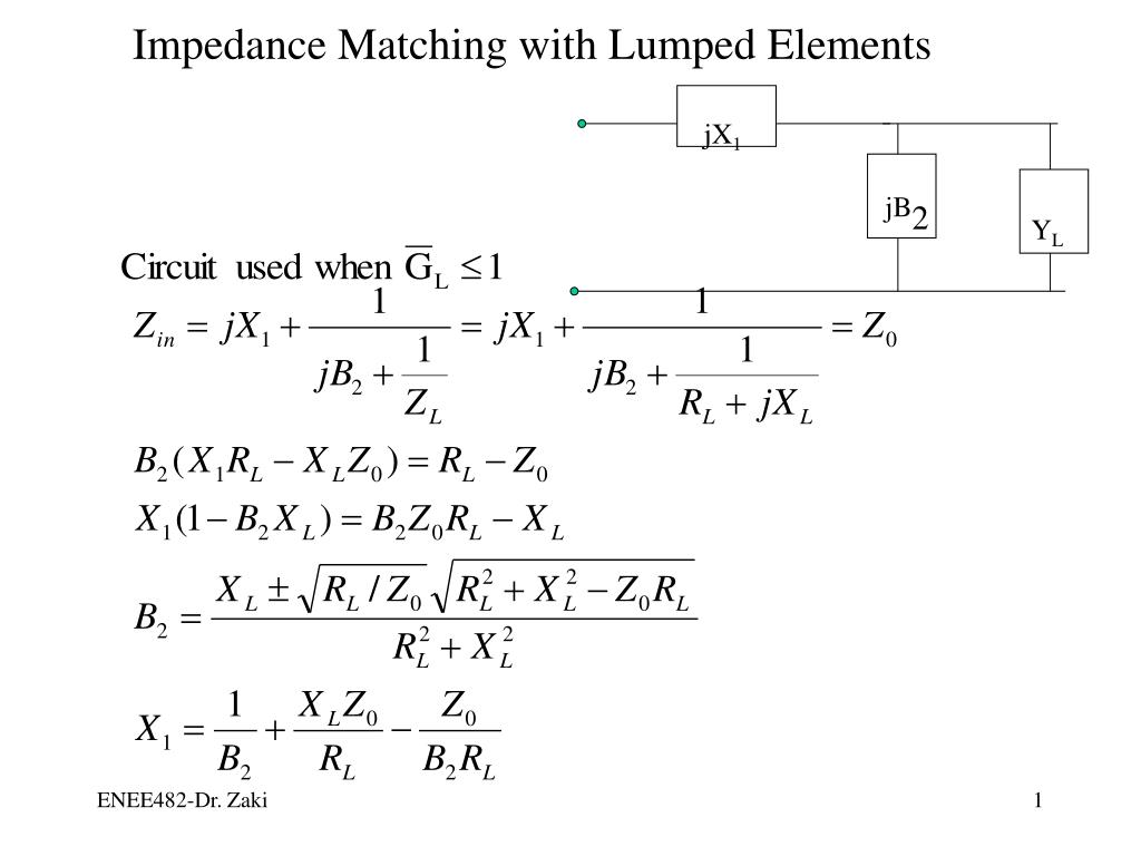 impedance matching with lumped elements l.