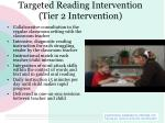targeted reading intervention tier 2 intervention