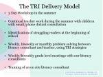 the tri delivery model