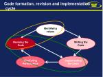 code formation revision and implementation cycle8