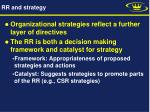 rr and strategy