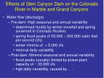 effects of glen canyon dam on the colorado river in marble and grand canyons7