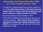 reasonable and prudent alternative rpa u s fish wildlife service 1994