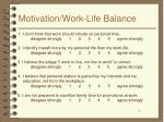 motivation work life balance