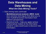 data warehouses and data mining what are data mining tools36