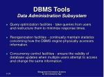 dbms tools data administration subsystem31