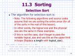 11 3 sorting selection sort40