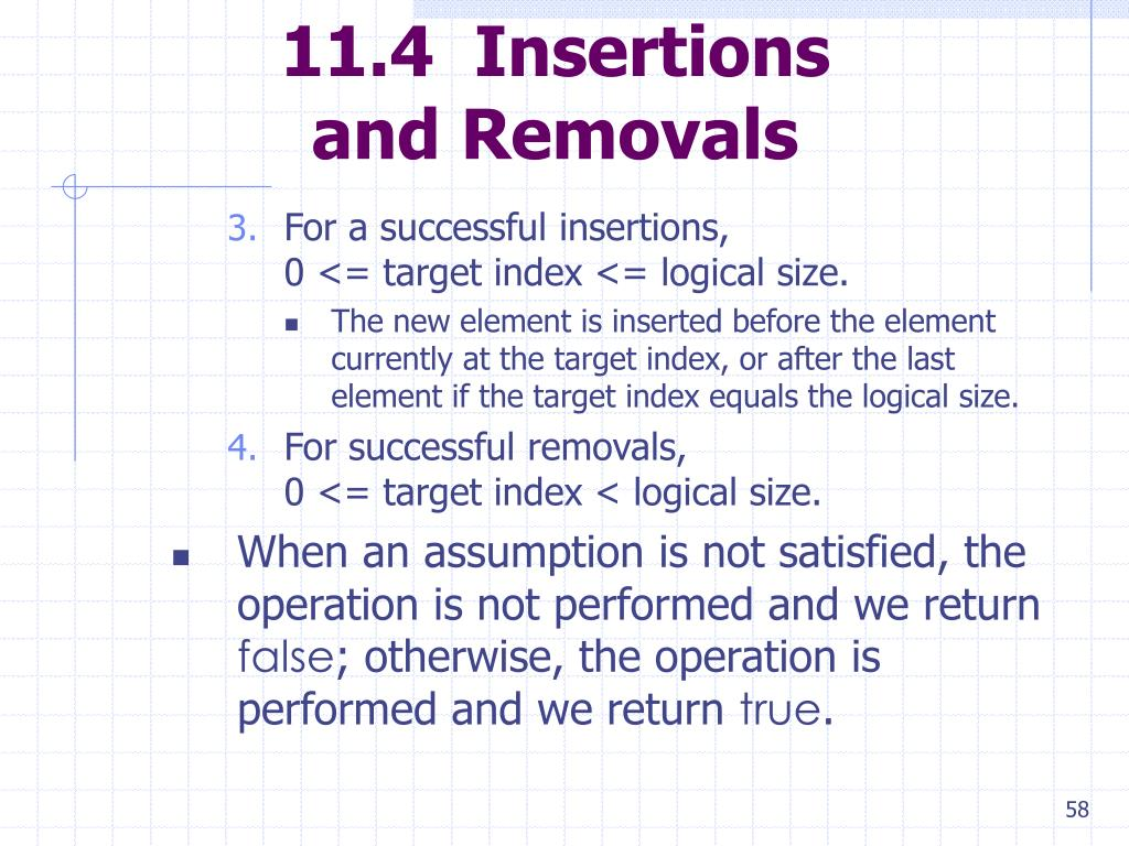 11.4  Insertions
