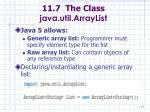 11 7 the class java util arraylist77