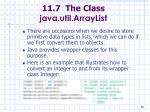 11 7 the class java util arraylist86
