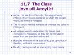 11 7 the class java util arraylist88
