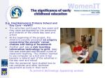 the significance of early childhood education