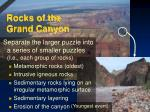rocks of the grand canyon