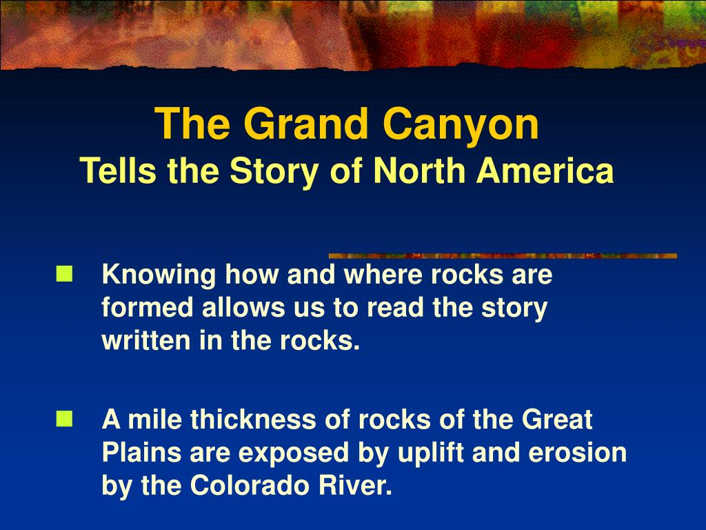 the grand canyon tells the story of north america l.