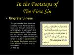 in the footsteps of the first sin31