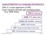 layered approach to language development