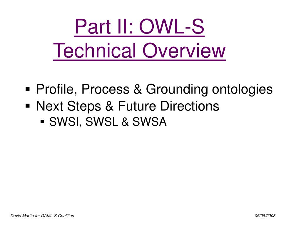 part ii owl s technical overview l.