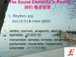 ii the sound elements in poetry