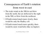 consequences of earth s rotation from west to east