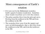 more consequences of earth s rotation