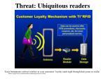 threat ubiquitous readers