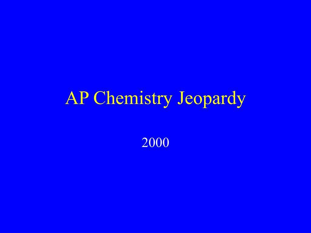 ap chemistry jeopardy l.
