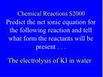 chemical reactions 2000