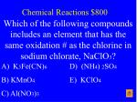 chemical reactions 800