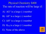 physical chemistry 400