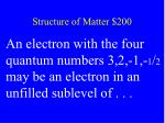 structure of matter 200