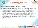 learning the text62