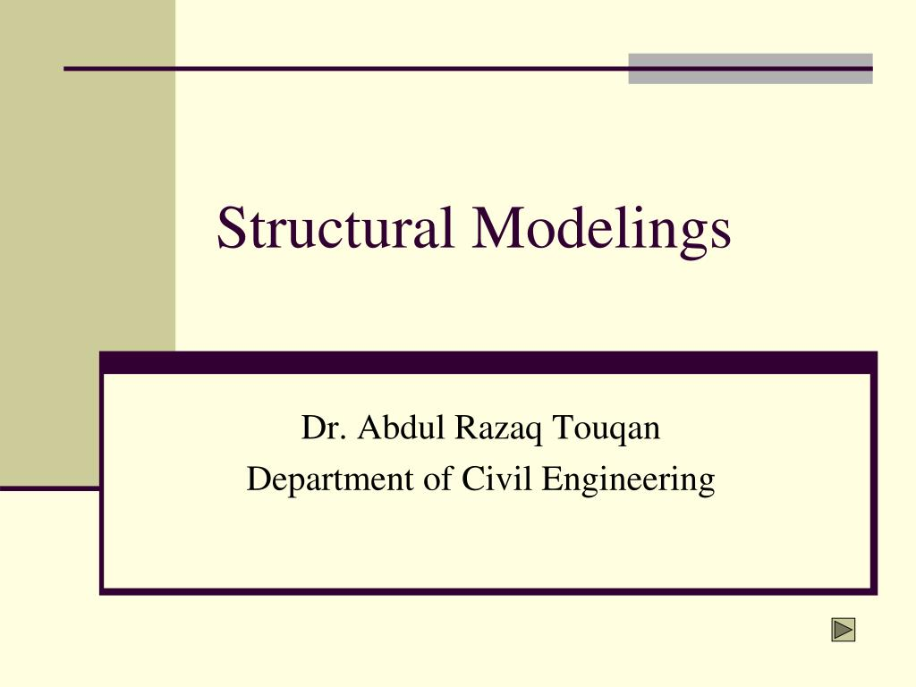 structural modelings l.