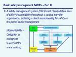 basic safety management sarps part iii