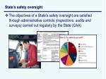 state s safety oversight22
