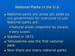 national parks in the u s