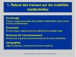 1 relev des travaux sur les mobilit s r sidentielles8