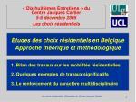 etudes des choix r sidentiels en belgique approche th orique et m thodologique2