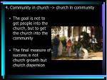 4 community in church church in community