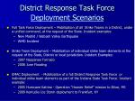 district response task force deployment scenarios