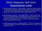 district response task force organizational levels