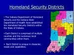 homeland security districts