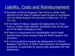 liability costs and reimbursement