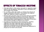 effects of tobacco nicotine